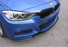 P Front Bumper CARBON  Valance Chin Spoiler Lip Splitter For BMW 3 series F30