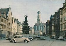 AK aus Augsburg mit VW-Käfer, Oldtimer, alte Autos   (B11)