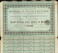 RUSSIA MINING  Minerais de Fer de Krivoi Rog dd 1921