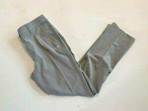 Huk Pants Men's 34 Calhoun Gray Fishing Quick Dry Stain Release Gray