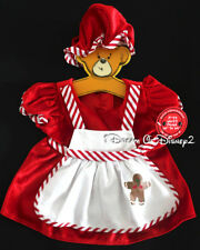 NEW Build-A-Bear MRS CLAUS GINGERBREAD APRON DRESS & HAT Teddy Clothes Outfit