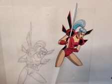 Jim Lee WILDCATS ZEALOT Cartoon Animation Cel + Pencil Drawing + COA 14x10""
