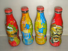 4 Pieces Collectible Coca Cola China Glass Coke Bottle Sealed