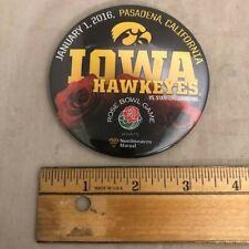 Iowa Hawkeyes Rose Bowl 2016 Button - pin vs Stanford