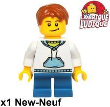Lego Figurine Minifig city enfant child garçon boy sweat capuche hol037 NEUF