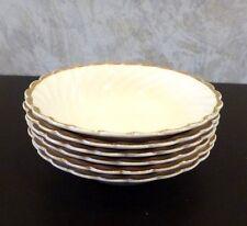 Set 6 Vintage Dessert Fruit Bowls Royal Staffordshire Clarice Cliff Cream Gold