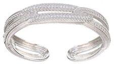 Judith Ripka Sterling Silver CZ Diamonique Bracelet Hinge size Medium