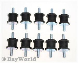 10 St Rubber Buffer M8-24mm-H24 Damper Silent Block Maschinenfüße Type A