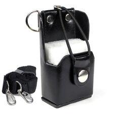 Radio Hard Leather Case Holster for Midland Kenwood Wouxun HYT ICOM Yaesu Uniden