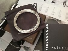 Silpada  21 Interlocking Ring Bangle Sterling Silver Bracelet B0640 $279. NIB
