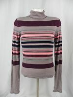 NEW Aeropostale Prince & Fox Pink & Maroon Striped Turtleneck Shirt (A1-49)