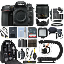 Nikon D7500 Digital SLR Camera 4K with 18-55mm VR Lens + 64GB Pro Video Kit