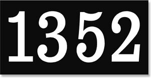 Address Number Sign. Aluminum plaque Large easy to read numbers. House or home.