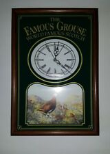 The Famous Grouse - World Famous Scotch Wall Clock Whiskey Sign Pub Man Cave