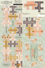 Authentique Grace Puzzle Pieces Die Cuts