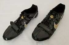 Mens Sz 8 Black Gold Nike Zoom Rival S Track and Field Shoes 456812-071 preowned