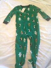 Carters 3T boy one piece Penguin Pajamas PJ New