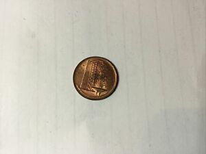 Singapore 1 cent, 1982, copper clad steel coin, KM# 1a