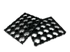 2pcs 4x5 Cell 18650 Batteries Spacer Radiating Shell Plastic Heat Holder Bracket