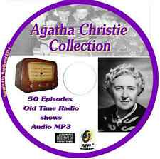 Agatha Christie Collection 50 OTR Old Time Radio Episodes Audio MP3 on CD