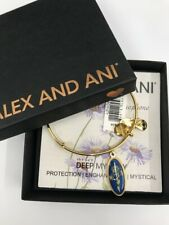 Alex and Ani DEEP MYSTERY SEPTEMBER Bangle Yellow Gold New W/ Tag Card & Box