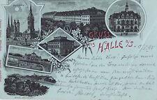 I 100-lito Halle, stazione, mercato, uni 1898 GLF.