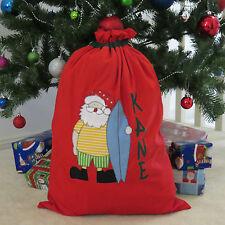 CHILD'S PERSONALISED CHRISTMAS / SANTA SACK - AUSSIE SANTA DESIGN -