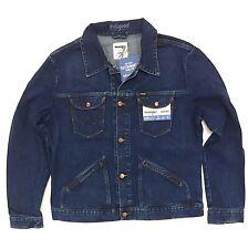 New Wrangle ICONS 124MJ Men's Western Denim Jacket Medium Blue Wash M L XL XXL
