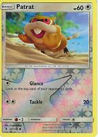 POKEMON SUN & MOON GUARDIANS RISING CARD: PATRAT - 107/145 - REVERSE HOLO