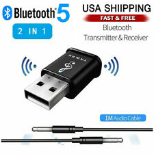 Bluetooth 5.0 Audio Transmitter Receiver USB Adapter For TV/PC Car Speaker AUX