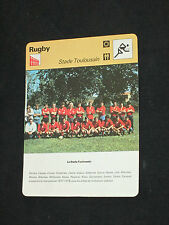 FICHE CHAMPION RUGBY STADE TOULOUSAIN TOULOUSE NOVES  1977-1978  ( maillot )