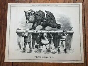 "1877 cartoon print  "" protocol "" eastern question  (politics )"