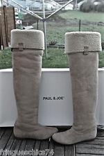 Bottes peau retournée beige PAUL & JOE carlie P 36 (UK 3,5) NEUVES valeur 495€