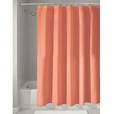 """Shower Curtain Mold and Mildew Free Waterproof Fabric Bathroom 72""""x72"""" Coral"""