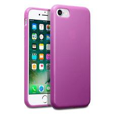 iPhone 8 Case Impact Proof Flexi Duragel Micro Bumper &  Screen Protector Pink