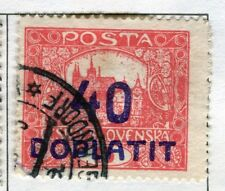 CZECHOSLOVAKIA;  1922 early DOPLATIT Postage Due issue used 40h. value
