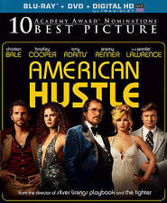 American Hustle (Blu-ray/DVD, 2014, 2-Disc Set, Includes Digital Copy...