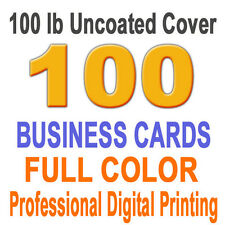 100 Customized Business Cards on 100 lb Linen cover paper 1 side full color