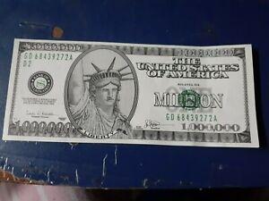 USA Funny Money One Million Dollar Note
