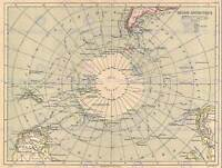 GEOGRAPHY MAP ILLUSTRATED ANTIQUE HACHETTE ANTARCTICA POSTER ART PRINT BB4323B