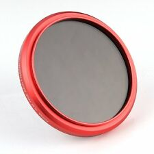 FOTGA 58mm ajustable Fader Variable Nd Filtro ND2 to ND400 Rojo Anillo