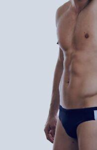 """Men's Blue Speedo Endurance 5cm Swim Briefs Medium (AUS 18 36"""" Waist 87.5cm)"""