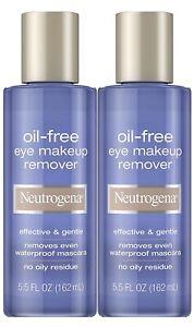 2 pack Neutrogena Oil-Free Liquid Eye Makeup Remover, 5.5oz Residue-Free, Non...