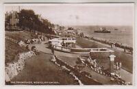 Essex postcard - The Promenade, Westcliff on Sea - RP - P/U 1947 (A525)