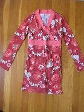 Tea Collection Kimono wrap DRESS red pink green floral holiday christmas girl 10