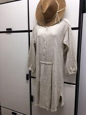 evam eva Japan OS Silk Nylon Angora Knitted Light Oat Sweater Dress