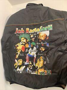 Raw Blue Classic Fashion Rastafari Reggie Jacket Reggie Legends Printed On Back