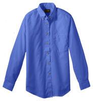 Edwards Garment Women's Button Pocket Long Sleeve Poplin Blouse Shirt. 5280