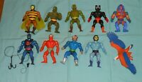vintage heman He-Man MOTU lot Webstor Stinkor Buzz-Off Beast Man Skeletor Zoar