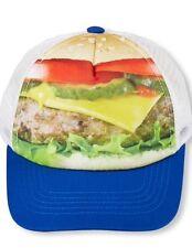 Boys Kids Cheeseburger Hamburger Hat Cap 6-12 Months NWT Funny Halloween